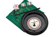 "BRAND NEW! Roulette Game Set - 12"" Plastic Casino Wheel - Chips & Rake Included"