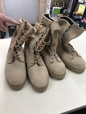2 Pairs Of Army Combat Boots (Hot Weather) - Desert Tan - 1 Pair Addison 9 1/2W