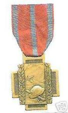 Military Medal Badge Award Honor Belgium WWI Army Merit Cross Battle War Guard