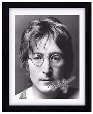 JOHN LENNON Signature Print - Signed - Fully Framed - The Beatles Wall Decor