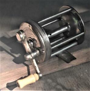 "Vtg. Shakespeare ""Uncle Sam"" Model 1922 Baitcasting Fishing Reel no. 23037 100yd"