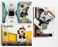 LOT OF 3 UPPER DECK GAME USED JERSEY CARD ZDENO CHARA DOUGHTY P.K SUBBAN MINT