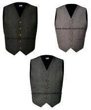 Scottish Tweed Argyle Kilt 5 Buttons Waistcoat / Vest Size 36 - 54