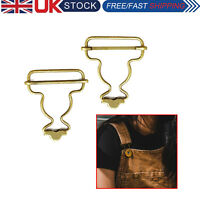 45mm x 30mm Bronze Brass Dungaree Fasteners Buckles for Jumpsuit Suspenders 2pcs