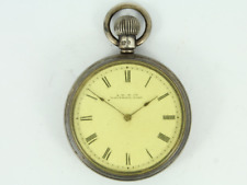 Antique Waltham Open Face Pocket Watch Sterling Silver Case Gg30