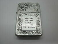 Bakepaint Body Shop Vintage CIGARETTE LIGHTER Karl Nielson RARE old auto repair