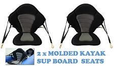 2 x KAYAK SEATS Canoe SUP Stand UP Board Seat