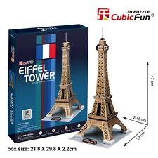3D Puzzles Eiffel Tower Model Jigsaw Educational DIY Puzzle 35Pcs Cubicfun C044h