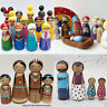 40Pcs Bodies Doll kids Toy Peg Art Design Craft Kids Man Unfinished Wooden DIY