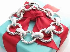 "Tiffany & Co Silver Large Twisted Rope Round Bracelet 7.55"""
