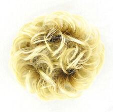 chouchou chignon cheveux blond très clair doré ref: 17 en ys