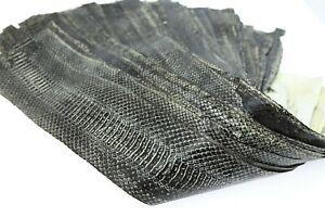 Genuine Snake Leather  Snakeskin Tanned Hide Glazed Black Single Piece