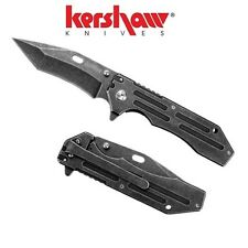 Kershaw - LIFTER Assisted Opening Knife Plain Edge Blackwash 1302BW New