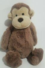 """Jellycat London Bashful Monkey Plush Stuffed Animal 12"""" Brown Super Soft"""
