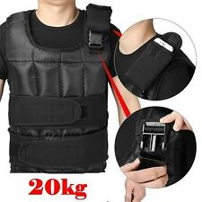 New 20kg Weighted Vest Adjustable Weight Training Vest MMA Gym Training Fitness