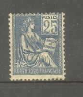 "FRANCE STAMP TIMBRE N° 114 "" MOUCHON 25c BLEU TYPE I 1900 "" NEUF xx TB"