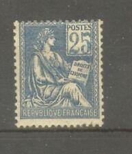 "FRANCE STAMP TIMBRE N° 114 "" MOUCHON 25c BLEU TYPE I 1900 "" NEUF xx TB"