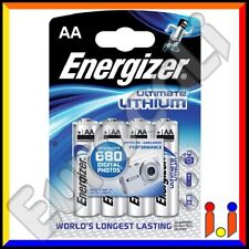 4 BATTERIE ENERGIZER ULTIMATE LITHIUM PILE STILO AA 1,5v LITIO