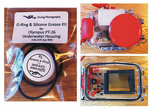 Replacement O-ring & Silicone Grease Kit for Olympus PT-26 Diving Housing Case