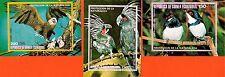 107 GUINEE EQUATORIAL 3 blocs obliteres : Oiseaux , protection de la nature