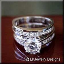 Round Channel Wedding Ring Set 3.65 Ct Forever One Moissanite