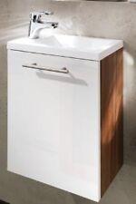 Waschplatz Alexo walnuss/weiß Gäste WC Waschbecken Waschtisch Waschplatz Badset