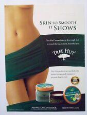 2010 Magazine Advertisement Page Ad Tree Hut Shea Body Butter Lotion Sexy Woman