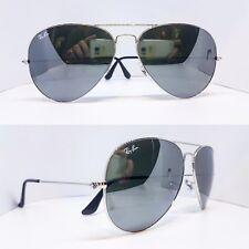 Ray-ban Occhiali da sole Aviator 3025 Grigio Argento Specchio 003/40 Grande 62mm