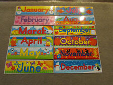 All 12 months for bulletin board. Classroom or Hall Jan, Feb, Mar, April, May