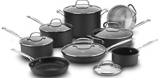 Cuisinart 14 Piece Chef's Classic Non-Stick Hard Anodized Cookware Set, Gray New