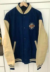 SUPER BOWL XXXV 2001 Ravens Vs Giants NIKE Wool w/ Leather XL Jacket NIB Lined