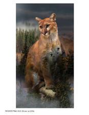 Hoffman Fabrics Call of the Wild Cougar Panel Cotton Fabric Q4490-141-Pine