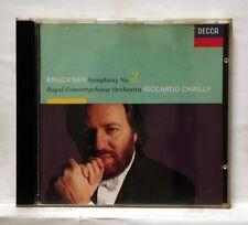 RICCARDO CHAILLY - BRUCKNER symphony no.2 - DECCA CD NM