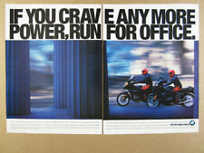 1995 BMW K1100LT & K1100RS Motorcycles vintage print Ad
