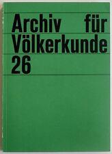 Museum of Ethnology Vienna journal, vol. 26, 1972