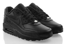 NIKE AIR MAX 90 LEATHER Sneaker Schwarz Sport Herrenschuhe Leder SALE 302519001