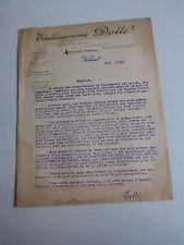 prospectus tracteur agricole :  lettre a entête des établissement DOLLE de 1922