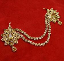 Wedding Passa Head Chain Matha Patti Hair Accessroy Ethnic Maang Tikka Jewelry