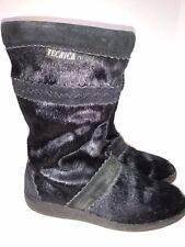 Tecnica Black Fur Winter Boots Italy Womens Size UK5 EU 37 Size 7