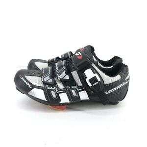 B36) Louis Garneau Womens Revo XR3 Road Cycling Shoes Black Hook Loop sz 6 EU 36