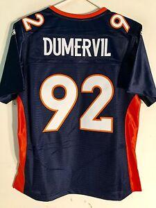 Reebok Women's Premier SEWN NFL Jersey Denver Broncos Elvis Dumervil Blue sz M