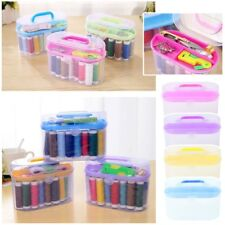 Empty torage Box for Sewing Kit Tool Needles Thread Scissor Organizer Container