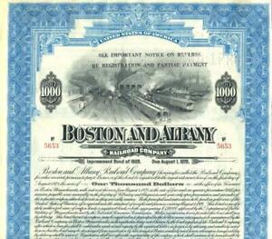 1928 B&A Boston & Albany Railroad - 4 1/4% $1,000 Improvement Bond