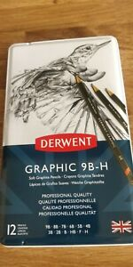 Derwent Graphic Pencils Drawing 9BH professional quality X 12 pencils NEW