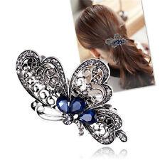 new fashion blue butterfly hair clip women luxurious girls hair accessories