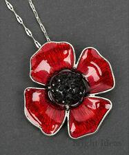 Equilibrio 64225-Papavero Fiore Collana con pendente placcato argento-Hope & PEACE