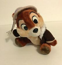 DISNEYLAND, CHIP N' DALE RESCUE RANGERS, CHIP WITH BOMBER JACKET VTG PLUSH, NWT