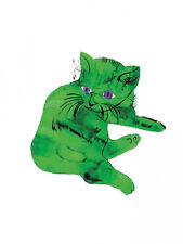 Cat (Green) by Andy Warhol Art Print Offset Lithograph Pop Kitten Poster 24x32