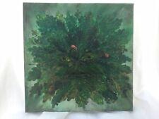 The Green Man painting 30cm² Acrylics on canvas original artwork Pagan art