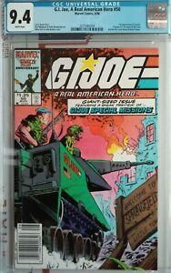 GI Joe #50 CGC 9.4 1986 Marvel NEWSSTAND 1st Zarana  NEW FRAME SEE MY OTHER LIST